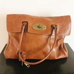 Mulberry Brown Leather Bayswater Top Handle Bag